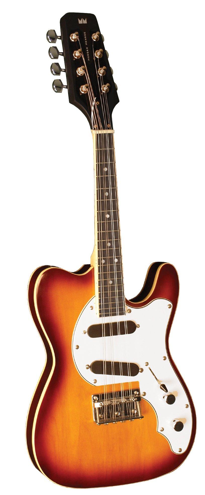 Morgan Monroe MMT-1E Electric T Style Mandolin, Vintage Cherry