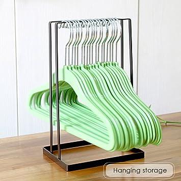 Hanger Organizer Storage Rack for Laundry Room Closet Organizer Hold Up to 30 Hangers Blue Sdoveb Standing Clothes Hanger Stacker Holder