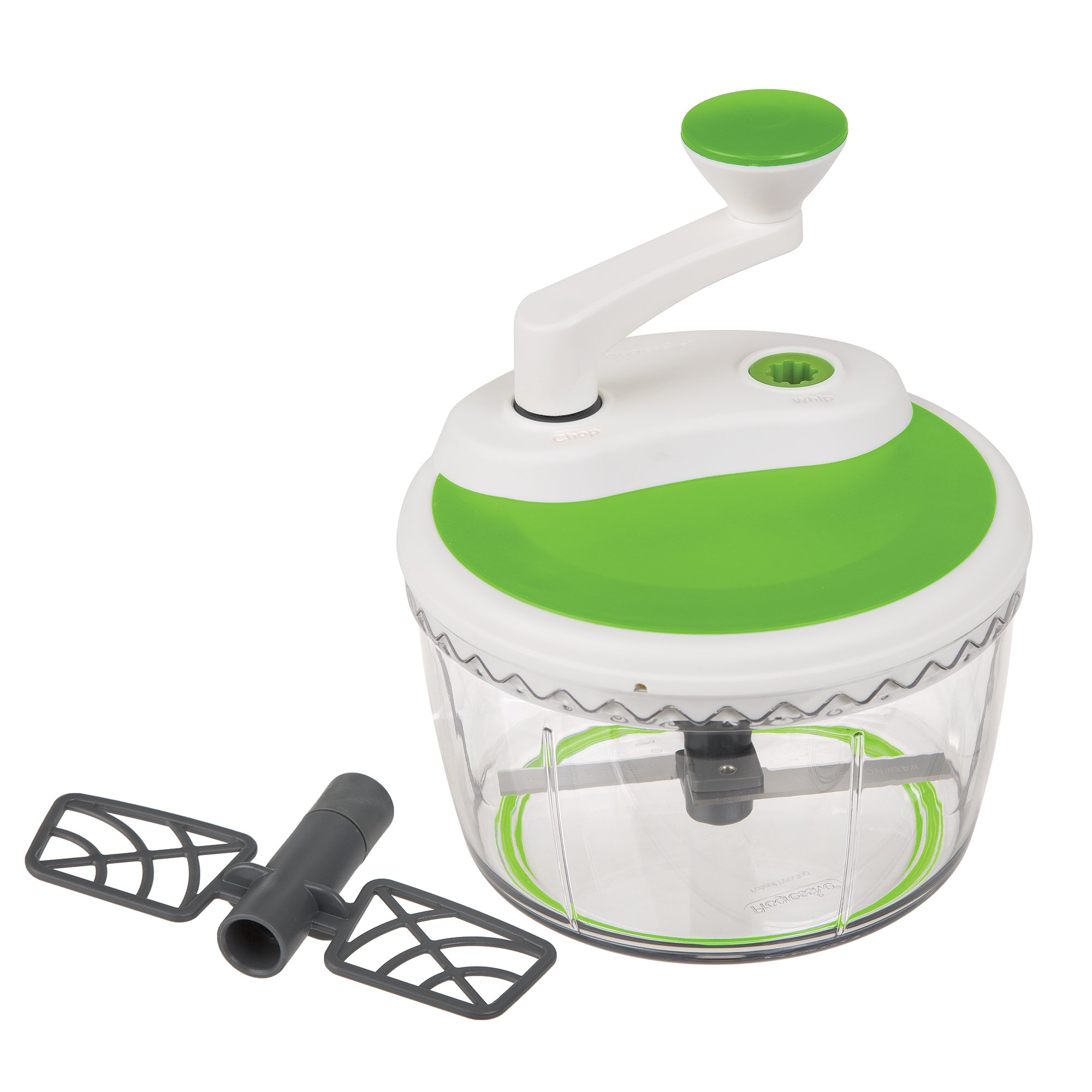 Prepworks by Progressive Dual Speed Chop & Whip, Two Speed Settings, Non-Skid Base, Whip Cream, Dressings, Mincing Onions, Salsa, Mixer, Vegetables, Coleslaw