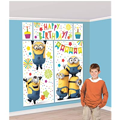 """Amscan""""Despicable Me"""" Birthday Party Scene Setter Set, 4.9' x 5.4', 5 Pc, Multicolor (670641): Toys & Games"""