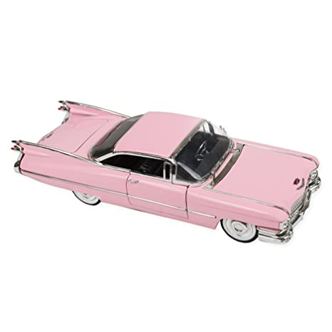 Amazon Com 1959 Pink Cadillac Coupe Deville 9 Inch Die Cast Toy Car