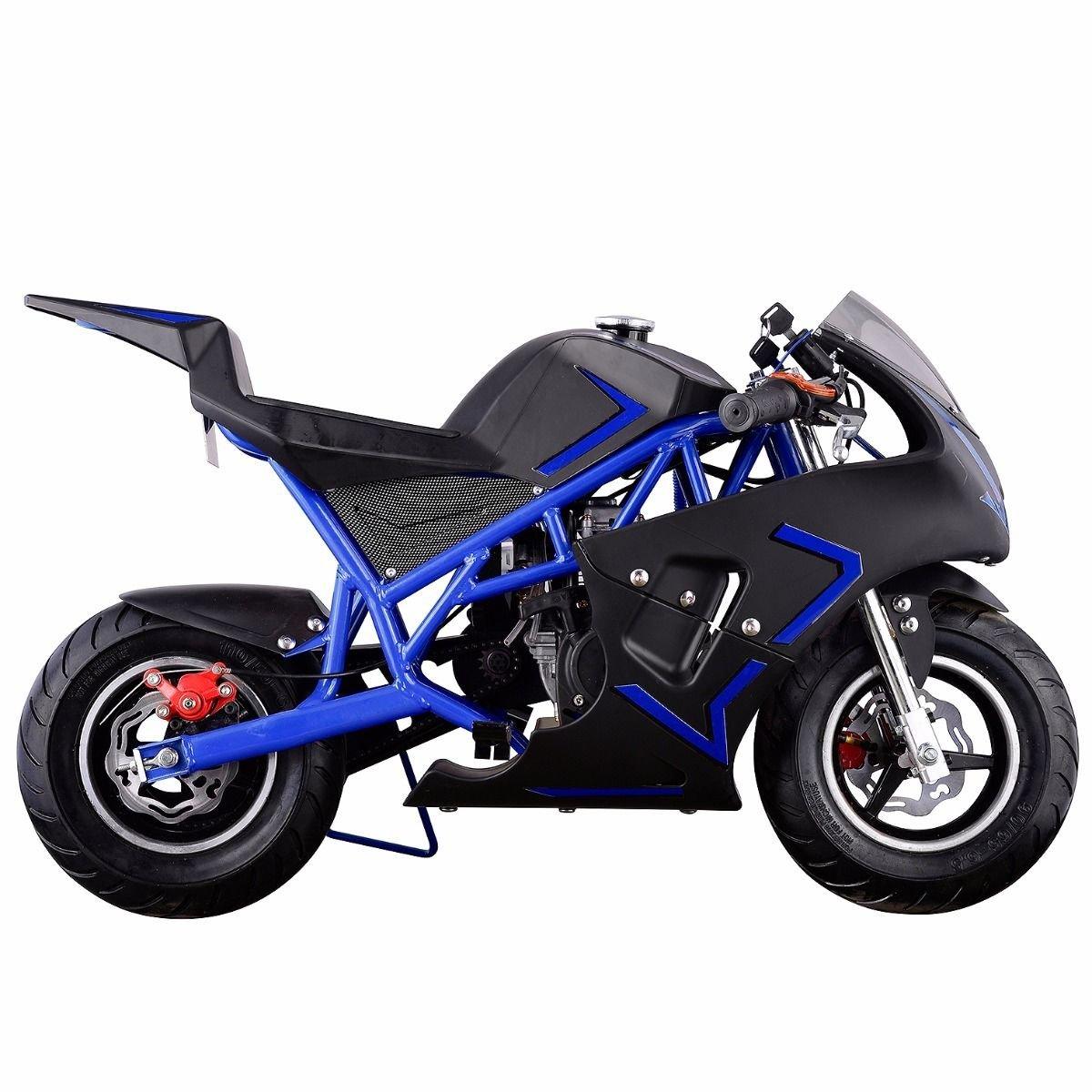 new gas pocket bike motorbike scooter epa engine motorcycle kids teens mini  blue sports outdoors jpg razor