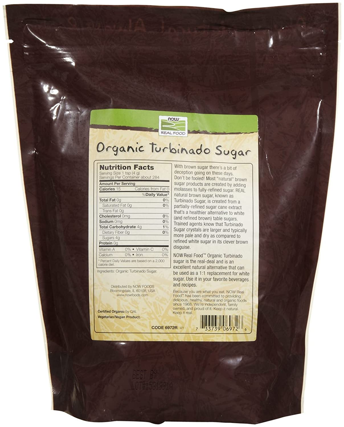 NOW Foods Organic Turbinado Sugar Image 2