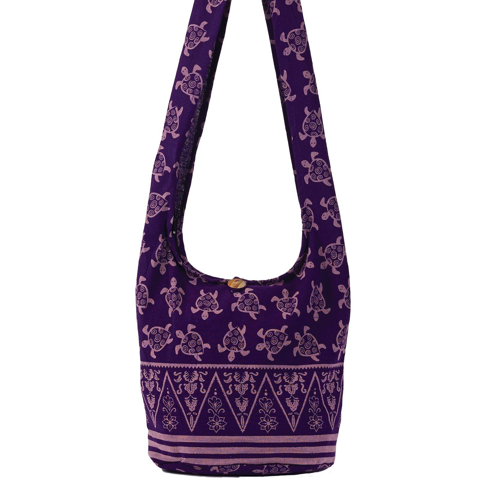 Purple Turtle Hobo Bag