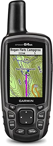Garmin GPSMAP 64st Topo US 100K GPS Handheld Receiver with 2.6-Inches Blacklit Display Renewed