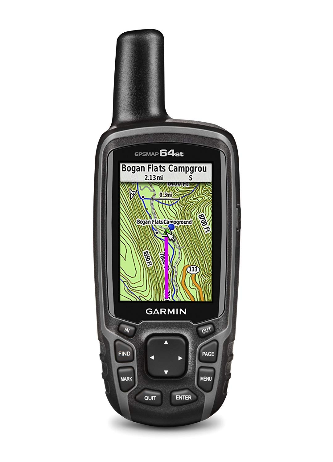 Garmin GPSMAP 64st Topo US 100K GPS Handheld Receiver with 2.6-Inches Blacklit Display (Renewed) by Garmin
