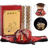 Juego de moxibustión moxibustión Cuello almohadilla Forma redonda Quemador de caja con 108 piezas de moxibustión de…