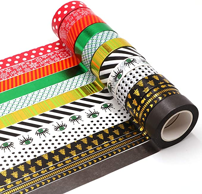 Merry Christmas Happy Holidays Washi Tape 20mm Wide x 5M Long No.12157