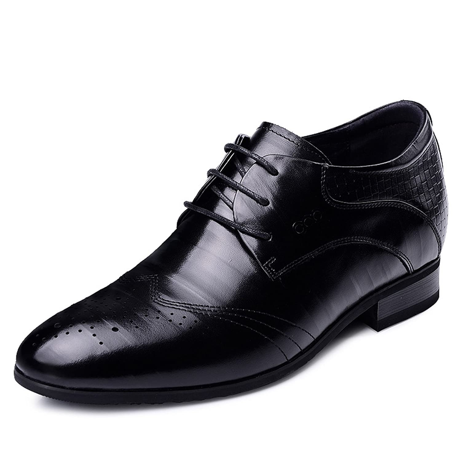 2.36 Inches Taller - Height Increasing Elevator Shoes (Black Business Dress Shoes)