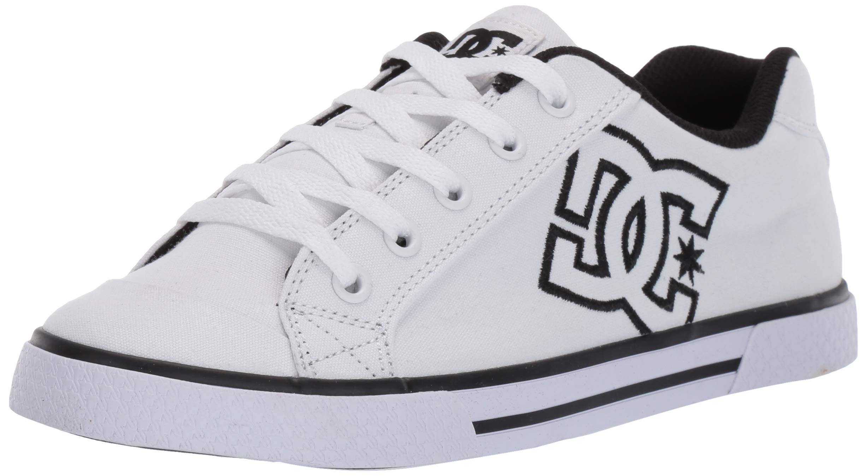 DC Women's Chelsea TX Skate Shoe, White/Black, 8 M US by DC