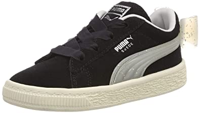 dc9cd1a7c1 Puma Suede Bow Jelly AC Inf, Sneakers Basses bébé Fille, Noir Black-Glacier