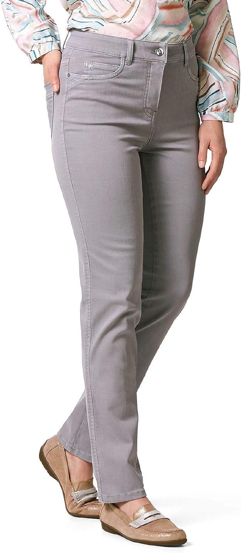 Walbusch Damen Jeans Bestform einfarbig Silbergrau