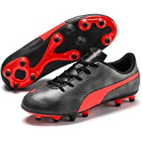 PUMA Unisex Rapido FG Jr Black-Nrgy Red Ag Aged Silver Football Shoes-5 UK (38 EU) (6 Kids US) (10480906)
