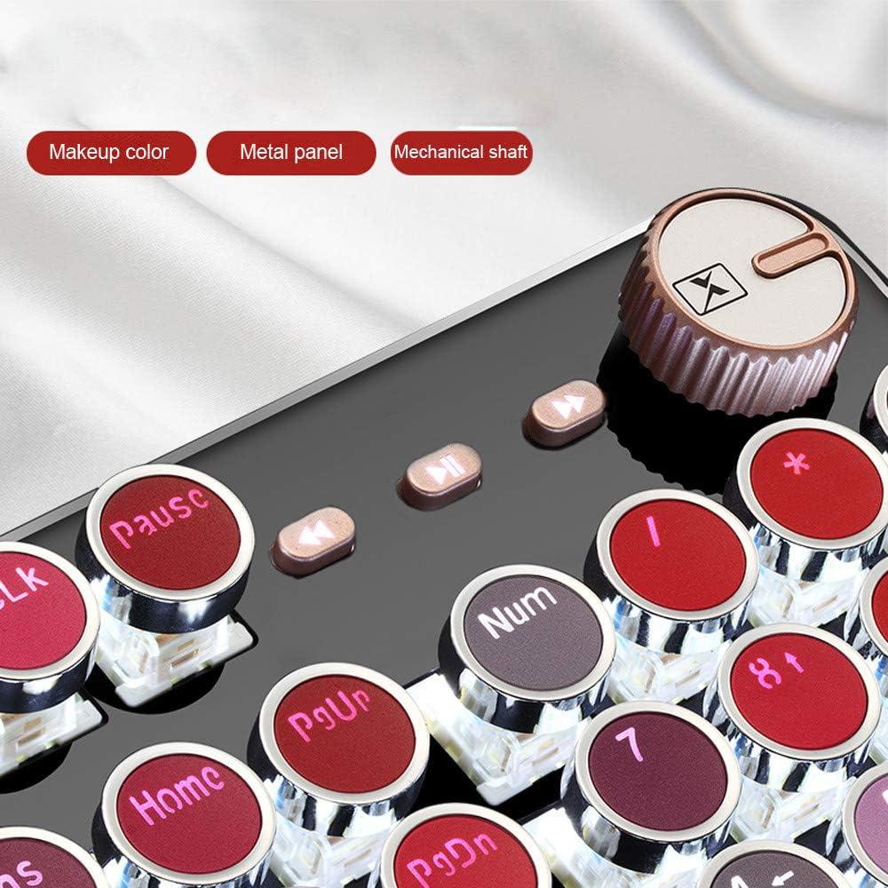 Faddare Lipstick 30 Color Mechanical Wired Gaming Keyboard Punk 104 Keys Metal Keyboard Shine Light MOBA Game Computer Games Keyboard