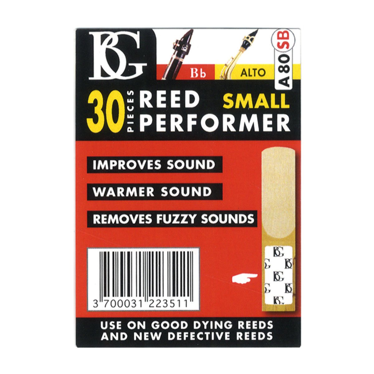BG A80SB Reed Performance Savers - Small (30 Count)
