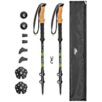 Gurxi 82-92cm Walking Poles Adjustable Telescopic Trekking Sticks Collapsible Hiking Sticks Trekking Poles can be Folded to 28cm