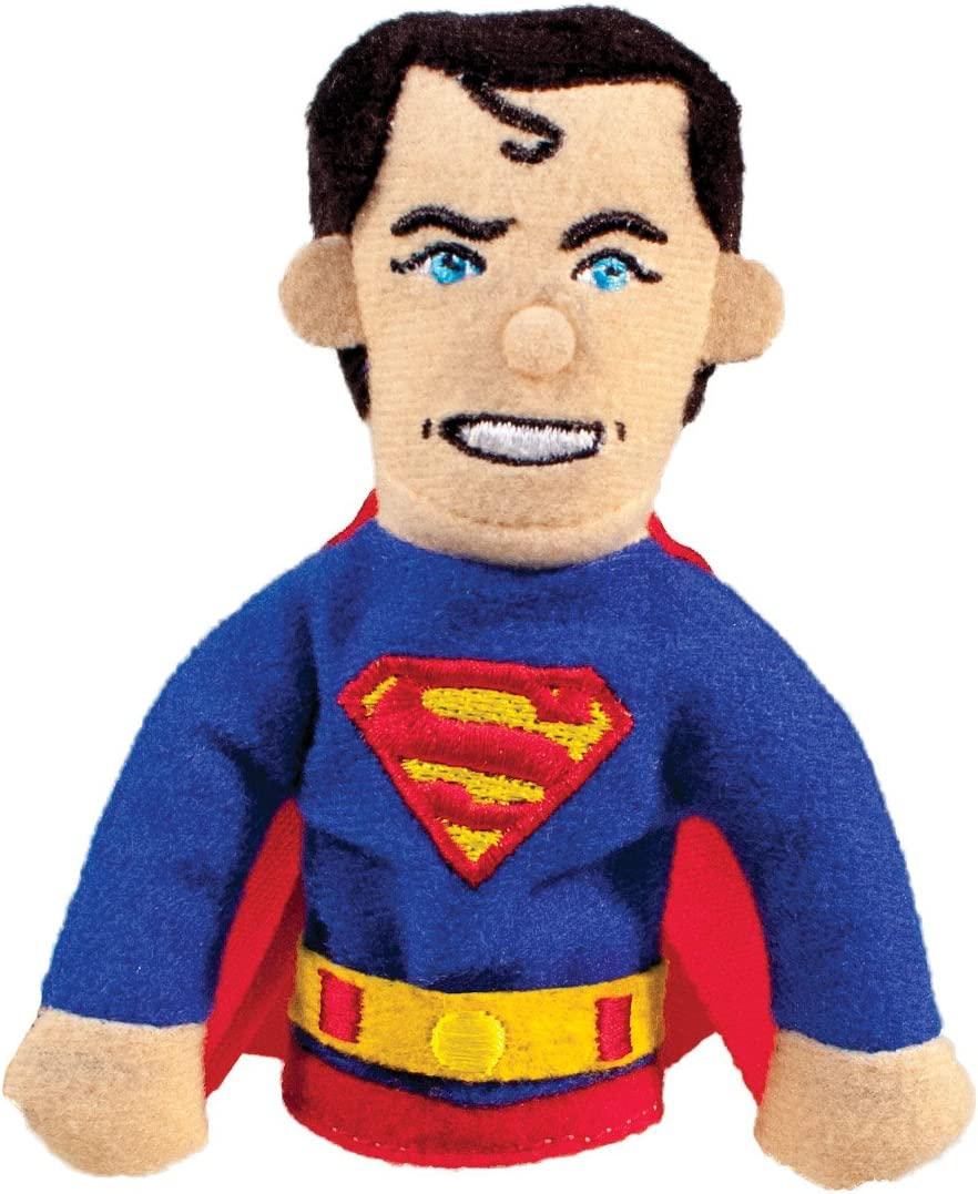DC Comics Superman Finger Puppet and Refrigerator Magnet - For Kids and Adults