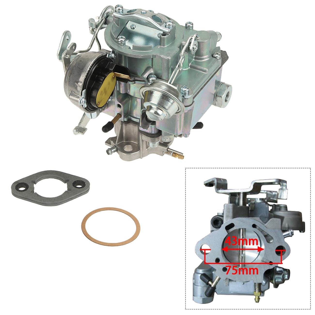 ALAVENTE Carburetor Carb for Dodge Plymouth Models & Dodge Truck 1966-1973 with 273-318 Engine(Manual Choke)