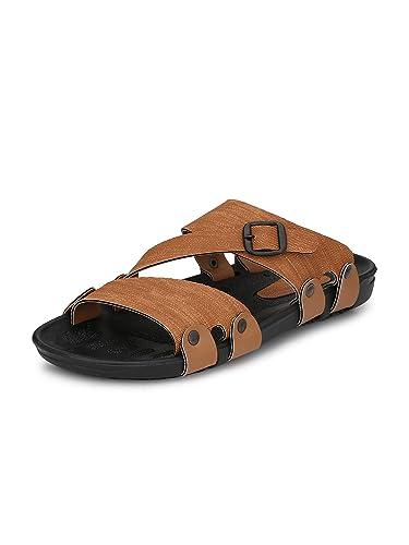 6fd116729f4c Fentacia Men Brown Sandals Big (UK6-UK14)  Buy Online at Low Prices ...