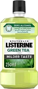 LISTERINE Breath Freshening Mouthwash, Green Tea, 250ml