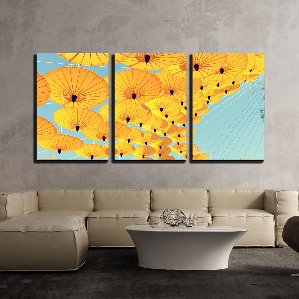 wall26 - 3 Piece Canvas Wall Art - Decoration by Colorful Umbrella ...