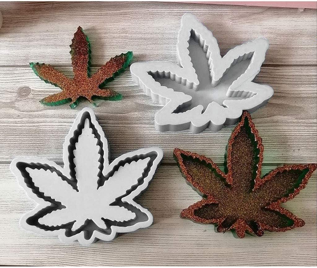 Weed Leaf Ashtray Resin Mold Maple Leaf Ashtray Silicone Molds DIY Home Table Decoration Ashtray Molds