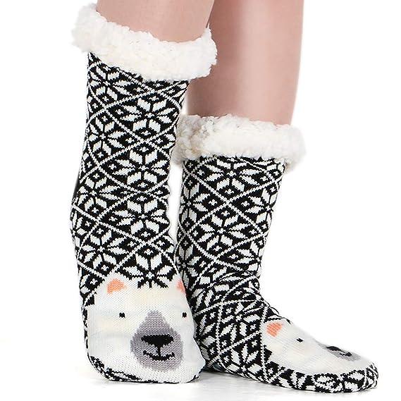 Tacobear Mujeres Gruesos lana calcetines de piso casa abrigados calcetines de mujeres antideslizantes calcetines de alfombra