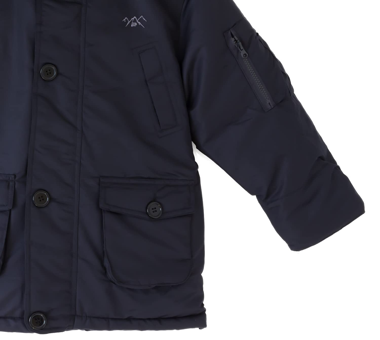 The Polar Club Boys Canada Parka Winter Coat W//Removable Fur Snorkel Jacket