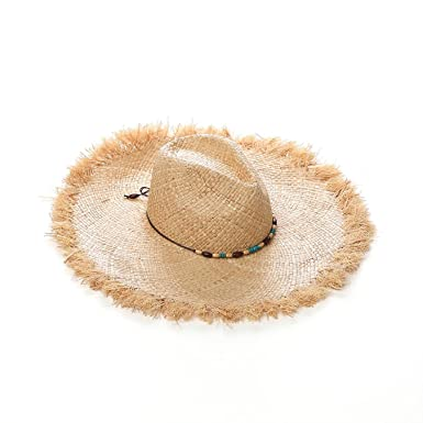 c89ddfb589c49 Image Unavailable. Image not available for. Color  FEpAIJJF Casual Fashion  Wild Beach Hat Rafia Grass Western Cowboy Hat UV Protection Male and Female