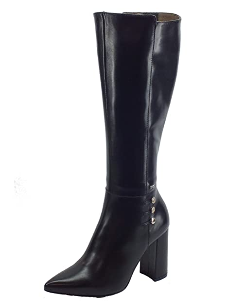 low priced f7950 7130f Nero Giardini Stivale Donna Nappa Nero con Bottoni: Amazon ...