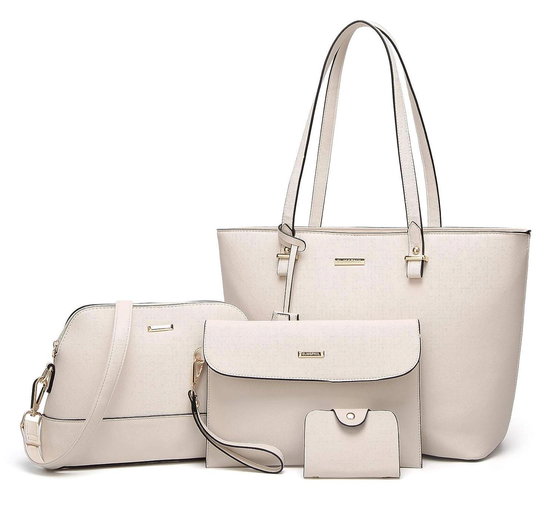 c30fcc67b9d Amazon.com: ELIMPAUL Women Fashion Handbags Tote Bag Shoulder Bag Top  Handle Satchel Purse Set 4pcs: Shoes