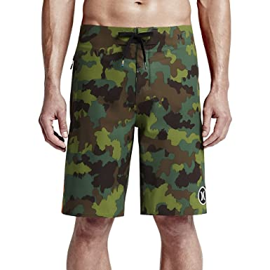 65262c66f3 Hurley Mens Phantom JJF 2 Elite Boardshorts Camo Green