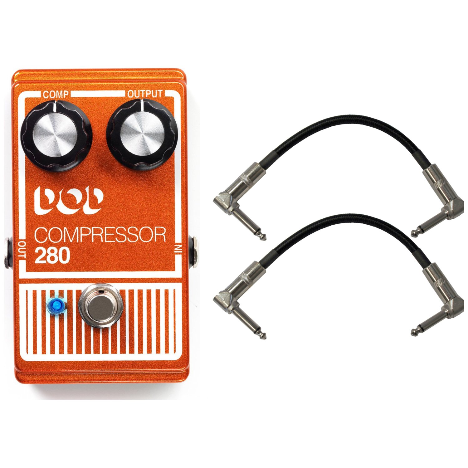DOD 280 Compressor Pedal w/ 2 Patch Cables