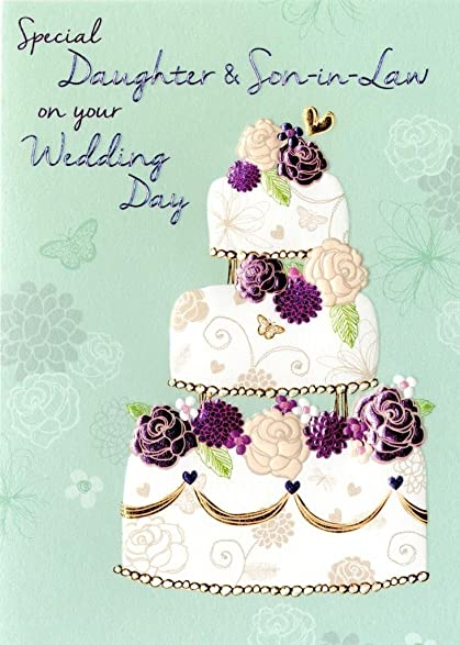 Daughter Son In Law Wedding Day Greeting Card Second Nature Daydreams Cards