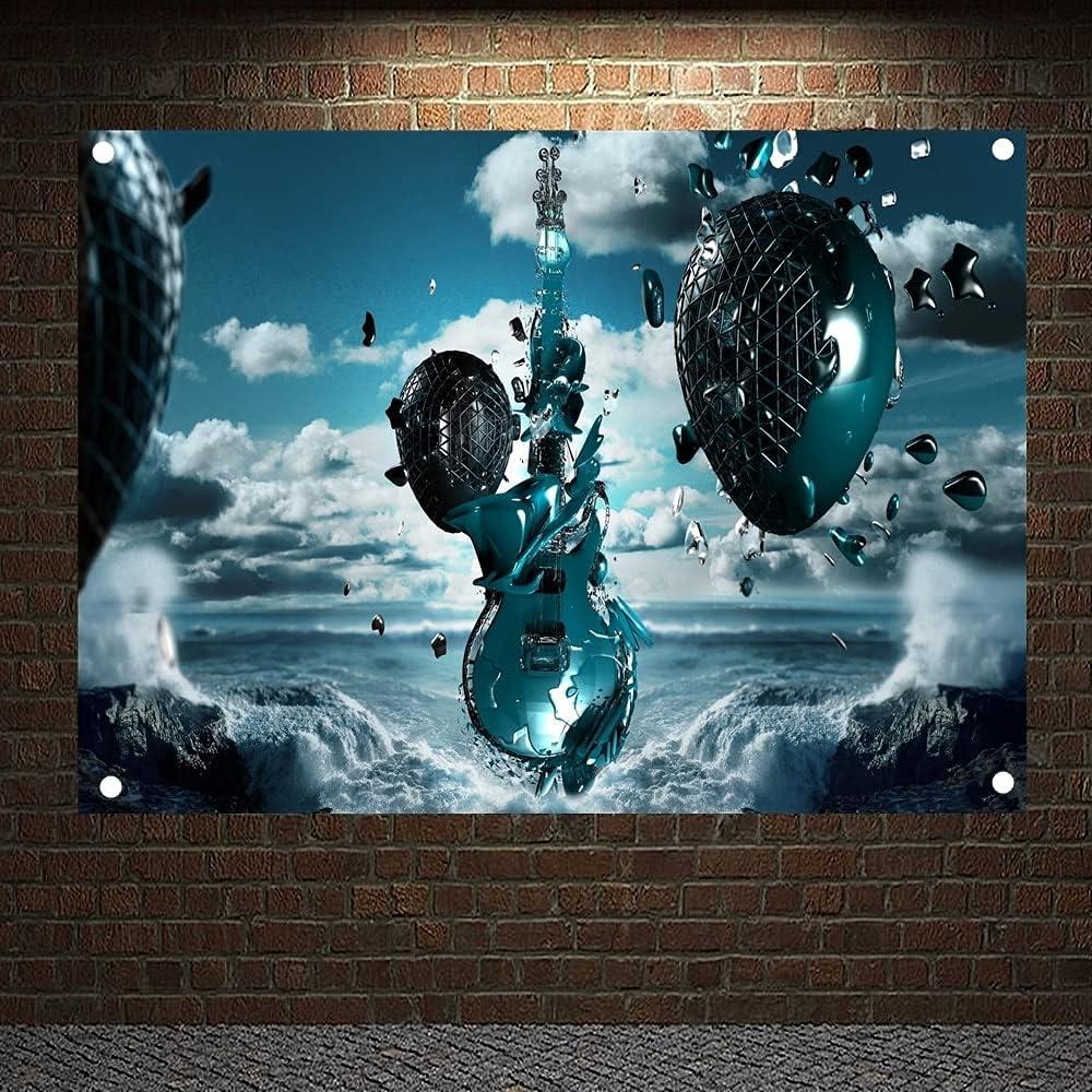 PMSMT Pop Rock Banda Heavy Metal música cartaz pano bandeiras adesivos de Parede Pinturas penduradas salão de bilhar Tema estúdio decoração para casa 7