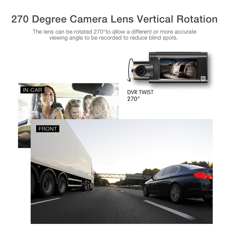G-Sensor Loop Recording Night Vision Motion Detection Super-Capacitor-G100 WIFI Dash Cam ANYTEK Dashboard Camera Recorder HD 1080P Car Video Recorder Camera 2.5 LCD 170/°Wide Angle 6-layer WDR