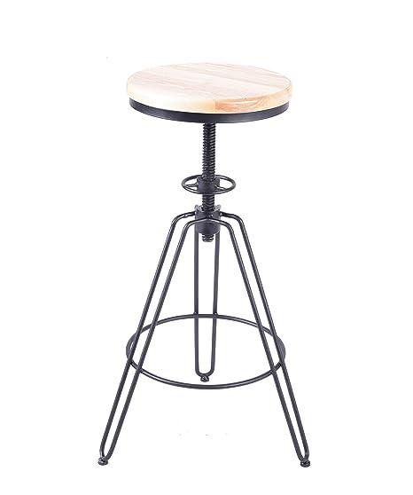 Pleasant Amazon Com Industrial Bar Stool Vintage Adjustable Swivel Evergreenethics Interior Chair Design Evergreenethicsorg