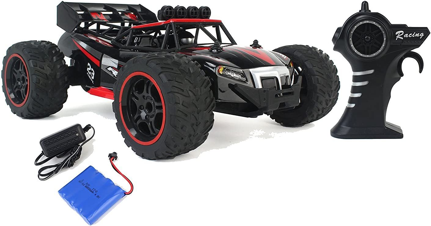 Spring Shock Absorbers Gallop Ghost Top Speed Remote Control 2.4 GHz RC Red Toy Buggy Car 1:14 Scale Size Ready to Run w//Working Suspension