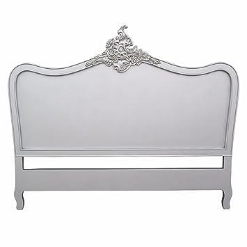 Schon French Antik Kopfteil Silber 5 Ft King Size Bett