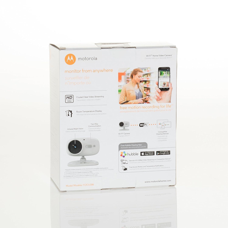 Motorola FOCUS66-2 B Wi-Fi HD Home Monitor Camera Black 2 Pack