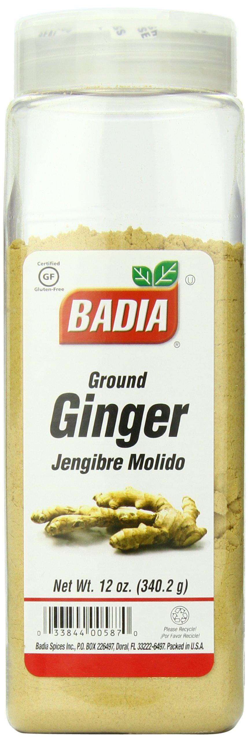 Badia Ginger Ground, 12 Ounce (Pack of 6)
