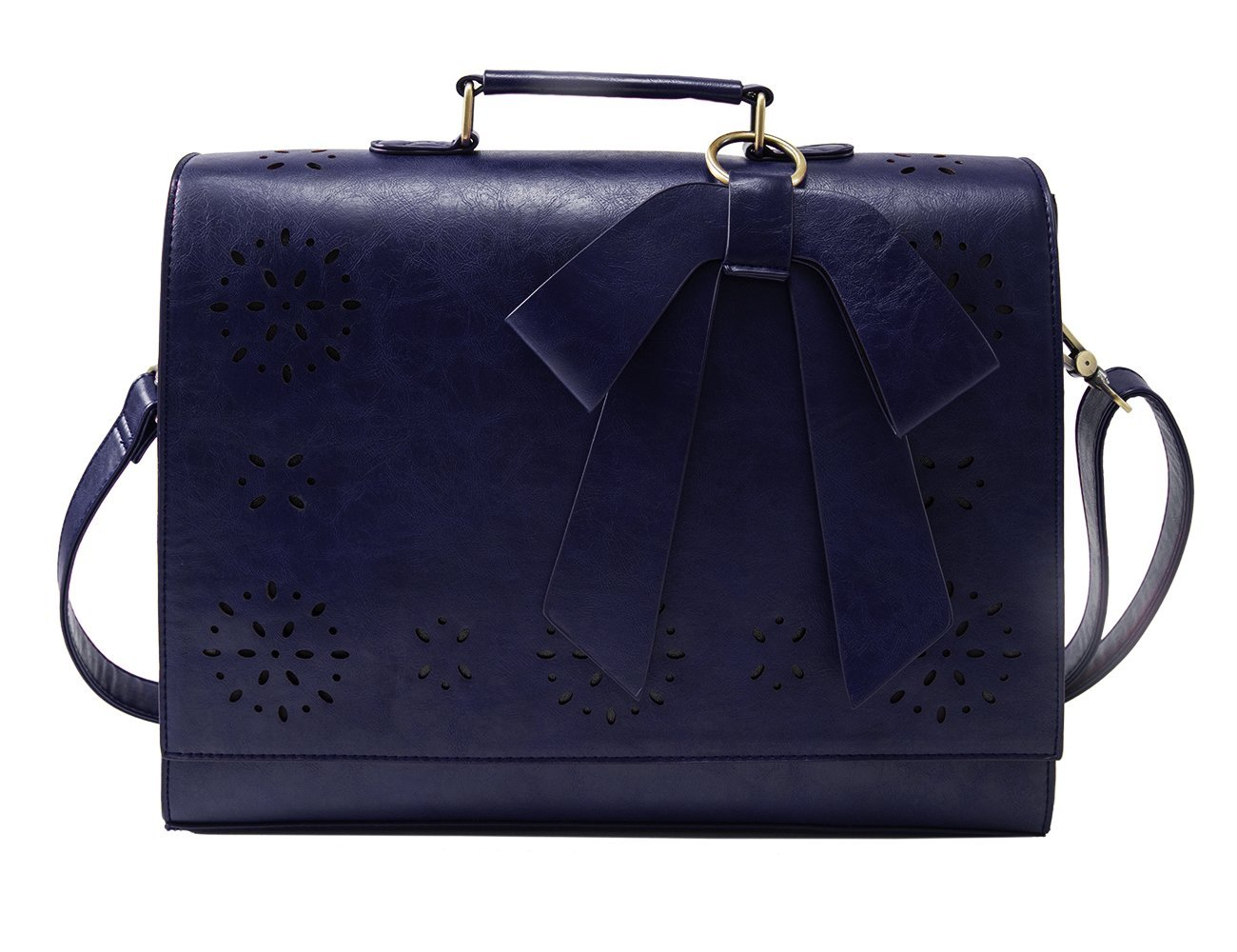 ECOSUSI Vintage Damen Schultasche Arbeitstasche Aktentasche Laptoptasche 14 Eco012926005-FDE