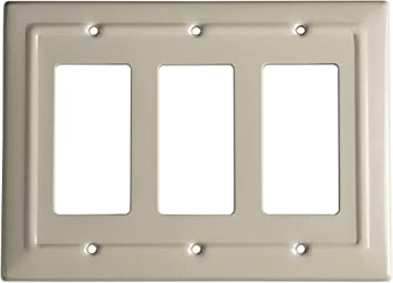 Monarch Abode 19359 Architectural Triple Rocker Wall Switch Plate 3 Gang Desert Clay Amazon Com