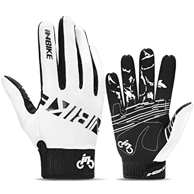 INBIKE MTB BMX ATV Mountain Bike Bicycle Cycling Gloves Men White: Automotive