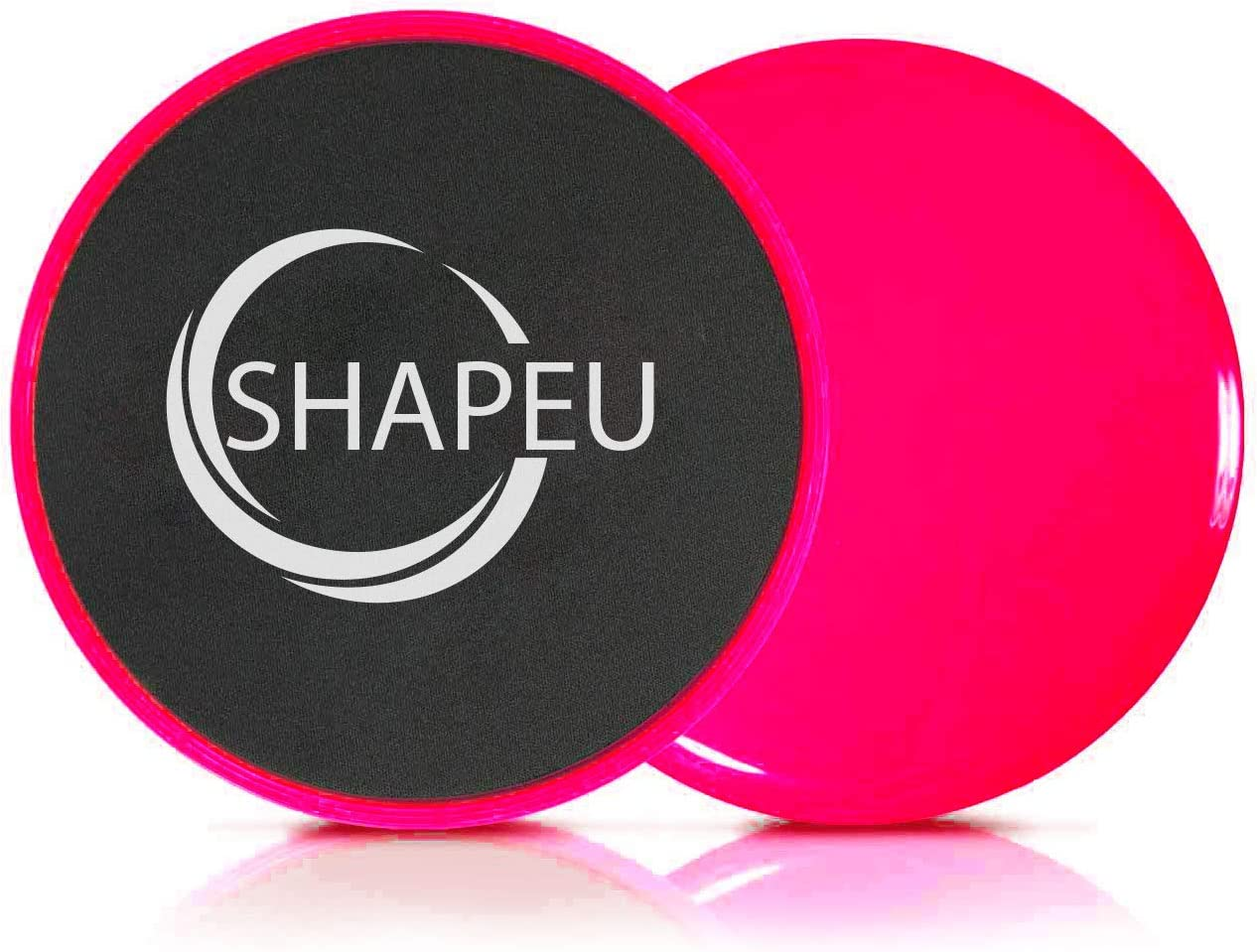 SHAPEU Glide Discs – Dual Sided Core Gliders for Carpet or Hardwood Floors. Abdominal Exercise Equipment with Training Guide Plus Bonus Digital Workouts