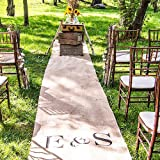 Weddingstar Burlap Aisle Runner with Borders