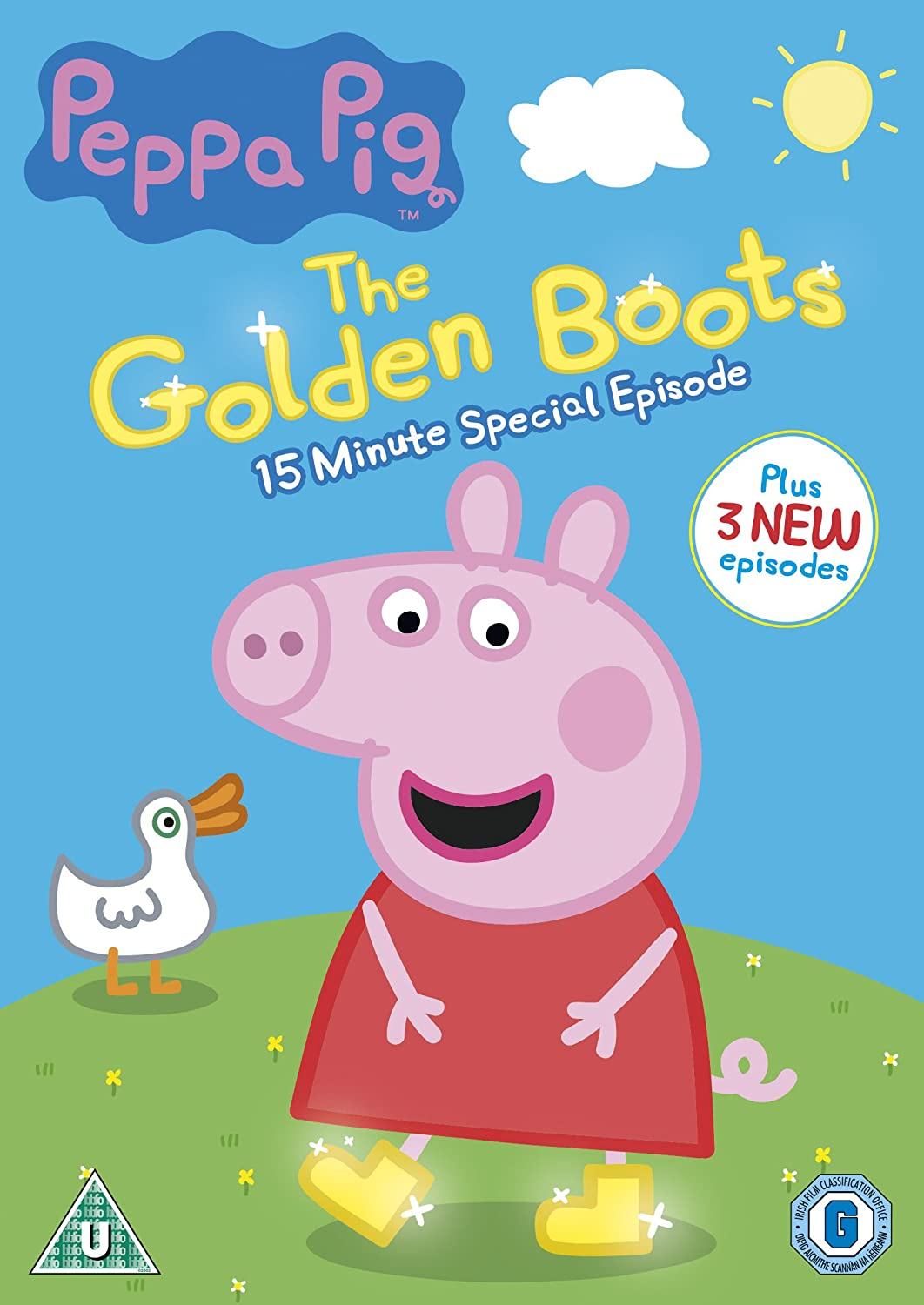 Peppa Pig: The Golden Boots [DVD] [2015]: Amazon.co.uk: John Sparkes: DVD &  Blu-ray