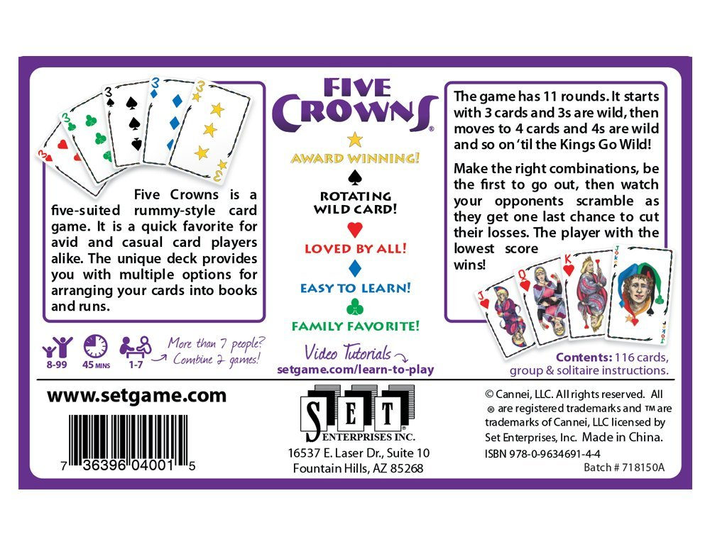 Amazon Set Enterprises Five Crowns Card Game Toys Games