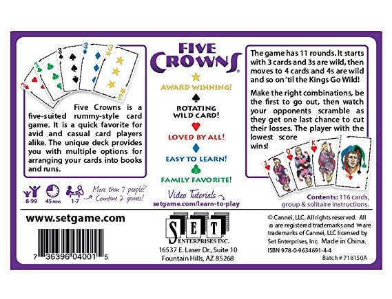 Coiledspring Games Five Crowns Game Amazon Toys Games