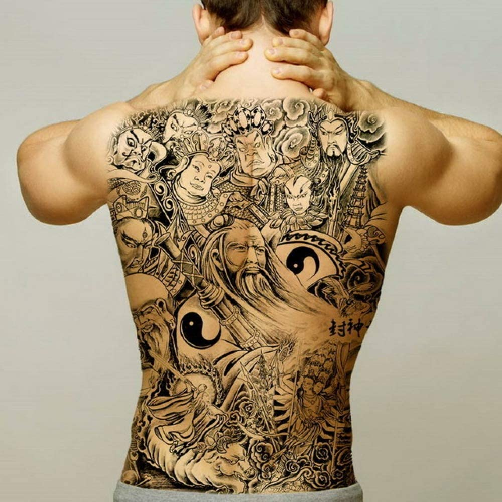3ps-Big tatuaje pegatina cuerpo tatuaje espalda hombres niño ...